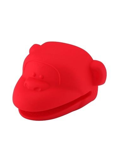 Silikon Kırmızı Maymun Şekilli Fırın Eldiveni-Tantitoni